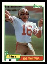 1981 Topps #216 Joe Montana NM-Mint RC Rookie 49ers