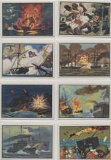 1954 Bowman U. S. Naval Victories Set 48 Back Is Black (RARE) 45/48   #*