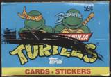 1989 Topps Teenage Mutant Ninja Turtles Wax Box Black Line 24 Unopened Packs  #*