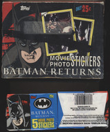 1992 Topps Batman Returns Movie Photo Stickers Wax Box 50 Wax Packs  #*  Black Line