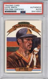 1982 Donruss #21 Ozzie Smith  PSA/DNA Auto Signed Diamond Kings Padres Encapsulated