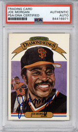 1983 Donruss #24 Joe Morgan PSA/DNA Auto Signed Diamond Kings Giants Encapsulated