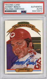 1983 Donruss #22 Johnny Bench PSA/DNA Auto Signed Diamond Kings Reds Encapsulated