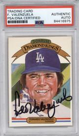1983 Donruss #1 Fernando Valenzuela PSA/DNA Auto Signed Diamond Kings Dodgers Encapsulated