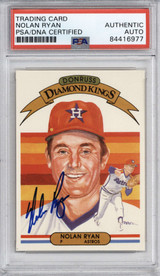 1982 Donruss #13 Nolan Ryan PSA/DNA Auto Signed Diamond Kings Astros Encapsulated