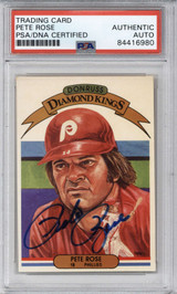 1982 Donruss #1 Pete Rose PSA/DNA Auto Signed Diamond Kings Phillies Encapsulated