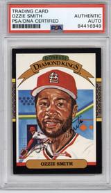 1987 Donruss #5 Ozzie Smith  PSA/DNA Auto Signed Diamond Kings Cardinals Encapsulated