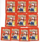 POKEMON 1999 Topps Merlin 10 UNOPENED Sticker Packs (6 Per Pack)