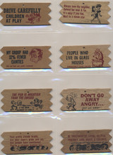 1960 Real Wooden Plaks Or Valentines Wooden Plaks  Lot 18 + 2 Dups  #*