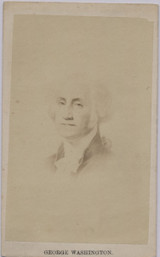 1860' To 1870's CDV George Washington 2 1/2 by 4 Inches  #*#