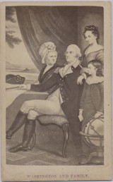 1860's To 1870's CDV George Washington & Family 2 1/2 by 4 Inches  #*