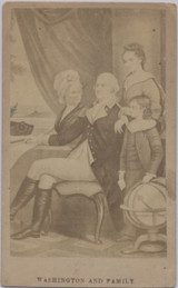 1860's To 1870's CDV George Washington & Family 2 1/2 by 4 Inches  #*3