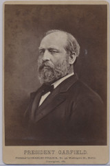 1881 President James A. Garfield Cabinet 4 by 6 1/2 inches  Produce After He Died 9-19-1881  #* #