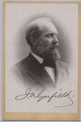 1870's To 1880.s Cabinet James A. Garfield   4 by 6 1/2 inches  #*