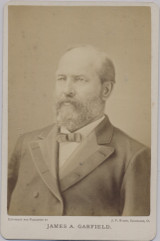 1870's To 1880.s Cabinet James A. Garfield   4 by 6 1/2 inches Facing Left #*