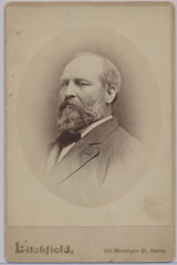 1870's To 1880.s Cabinet James A. Garfield   4 by 6 1/2 inches  Litchfield Boston  #*