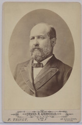 1870's To 1880.s Cabinet James A. Garfield   4 by 6 1/2 inches F. Trifet Boston #*