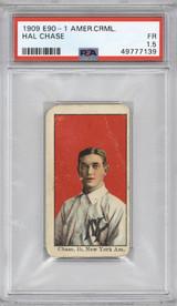 1909 E90-1 American Caramel Hal Chase New York Yankees PSA 1.5 Fair