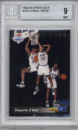 1992-93 Upper Deck #1 Shaquille O'Neal BGS 9 Mint RC Rookie SP