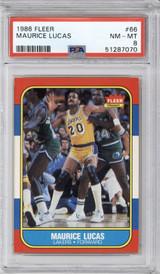 1986-87 Fleer #66 Maurice Lucas PSA 8 NM-Mint  ID: 321584