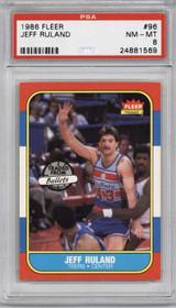 1986-87 Fleer #96 Jeff Ruland PSA 8 NM-Mint