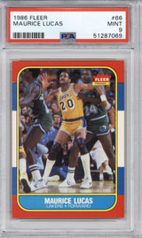 1986-87 Fleer #66 Maurice Lucas PSA 9 Mint  ID: 321589