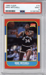 1986-87 Fleer #74 Mike Mitchell PSA 9 Mint  ID: 321590
