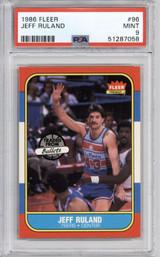 1986-87 Fleer #96 Jeff Ruland PSA 9 Mint  ID: 321591