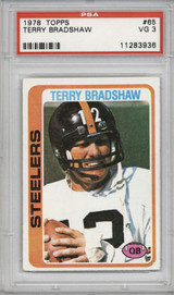 1978 Topps #65 Terry Bradshaw PSA 3 VG