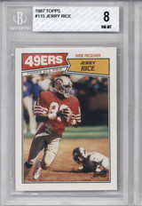 1987 Topps #115 Jerry Rice BGS 8 NM-Mint