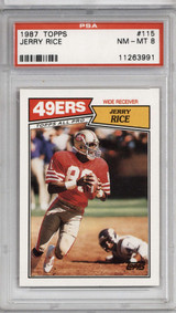 1987 Topps #115 Jerry Rice PSA 8 NM-Mint