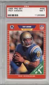 1989 Pro Set #490 Troy Aikman PSA 7 Near Mint RC Rookie