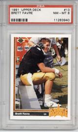 1991 Upper Deck #13 Brett Favre SR PSA 8 NM-Mint RC Rookie