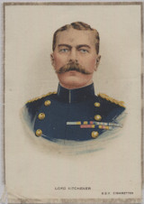 1914-18 SC10 Silk  Great War Leaders Lord Kitchener 4 5/8 by 6 1/2 Inches  #* 4 5/8 by 6 1/2 Inches  #*