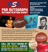 PSA Autograph Authentication at our Scottsdale Office October 9th