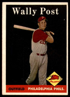 1958 Topps #387 Wally Post VG/EX