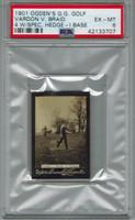 1901 Ogden Cigarette Card Guinea Gold Golf - I Base  Vardon V. Braid At Eltham PSA 6 EX-MT    #*