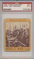1933 World War Gum R174 #21 Front Line Trenches PSA 5 EX  #*