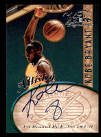 1997 Scoreboard Visions Artistry Signings Kobe Bryant Auto RC Rookie Card