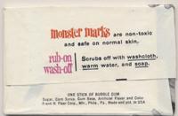 1968 Fleer Monster Marks 5 Cents Unopened 1 Wax Pack  #*