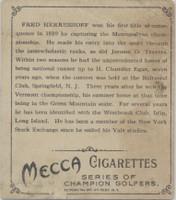 1910 T218 Champions Fred Herreshoff Golfer   #*