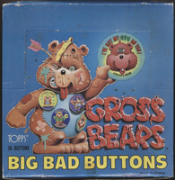 1985 Topps Gross Bears Big Bad Buttons Wax Box 36 Boxes  #*