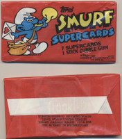 1982 Topps Smurf Super Cards Wax Box 24 Wax Packs  #* BLACK LINED