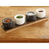 Bamboo Stand With 4 Marble Salt Pinch Pots - Sabatier Maison