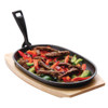 Cast Iron Oval Sizzle Platter