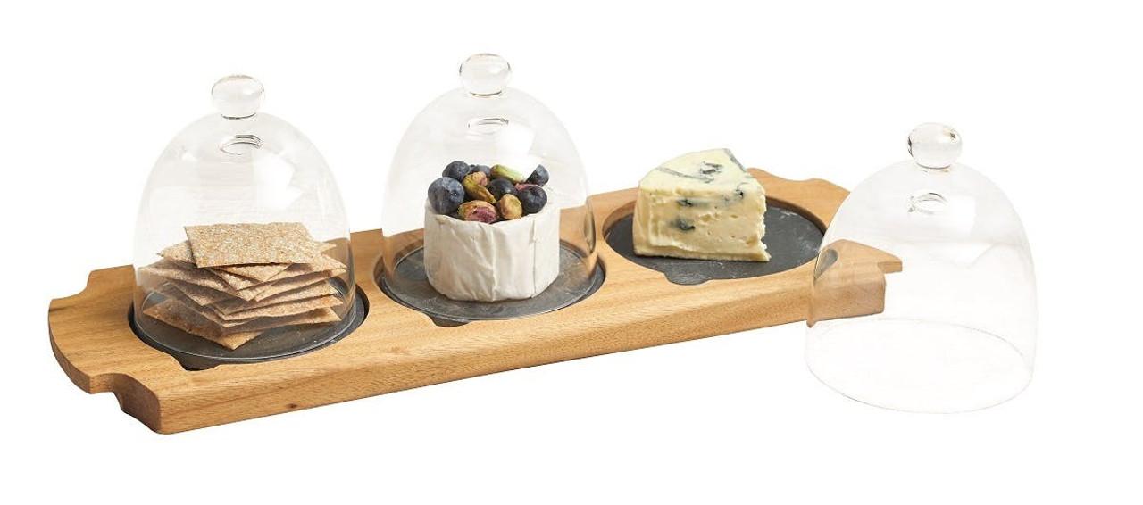 Appetiser Set 3 Glass Cloche