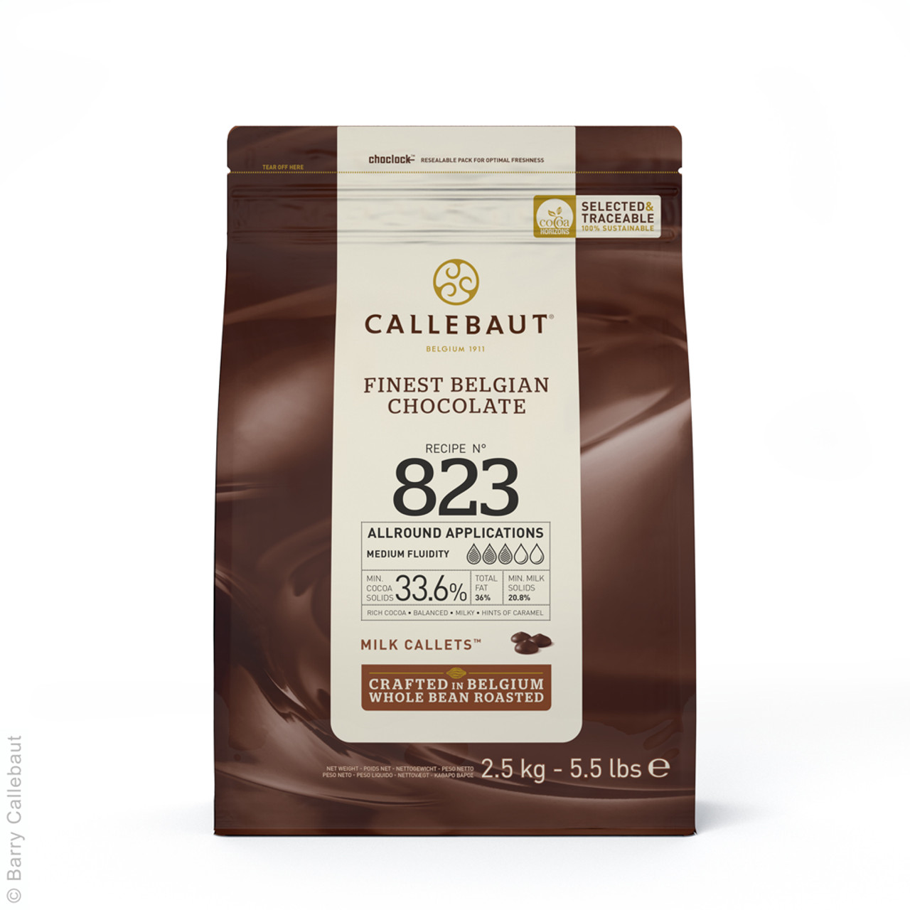 CALLEBAUT MILK CALLETS 33.6% 2.5kg