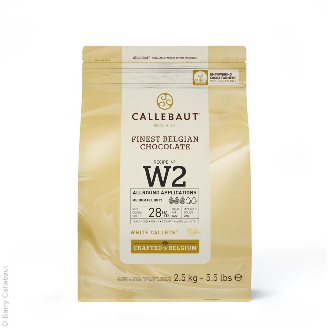 CALLEBAUT WHITE CALLETS 28% 2.5kg