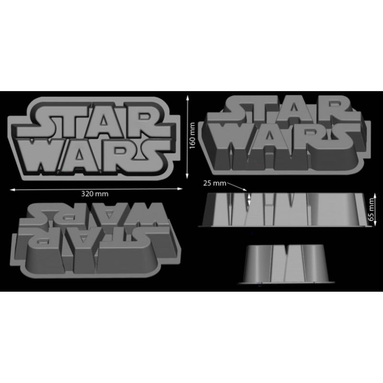 Silicone Mould - Star Wars Logo Ice/Chocolate Tray