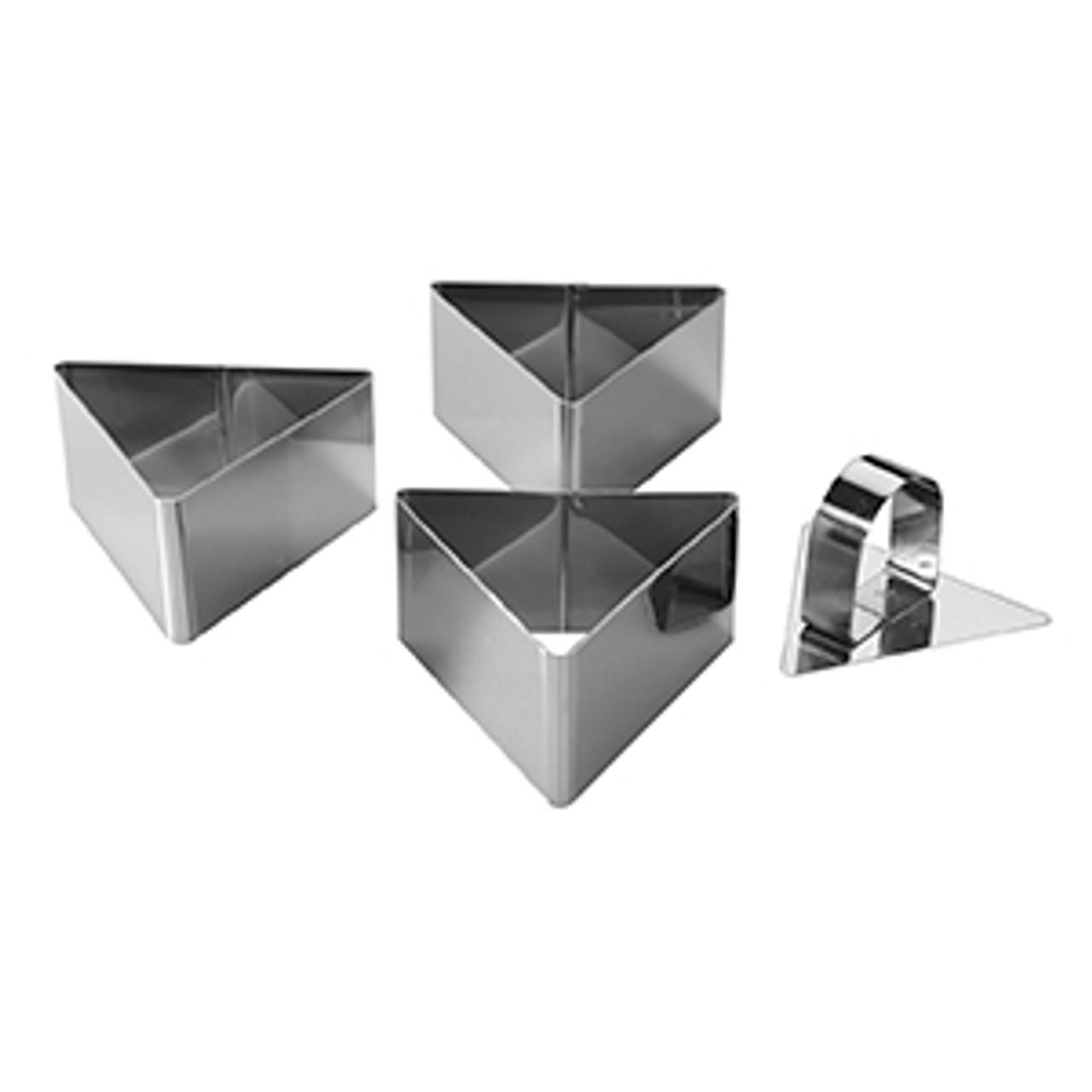 Mason Cash Stainless Steel Triangular Dessert Moulds x3
